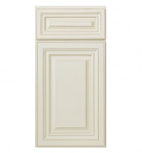 Glazed White Kitchen Cabinet Door