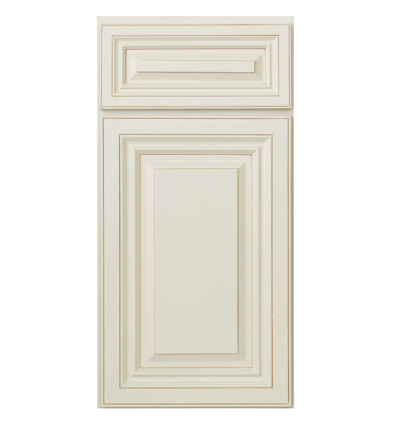 White Glazed Kitchen Cabinet Doors