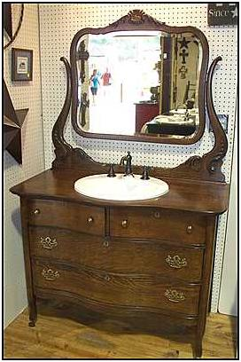 Antique Dresser With Sink Kitchen Cabinet Value